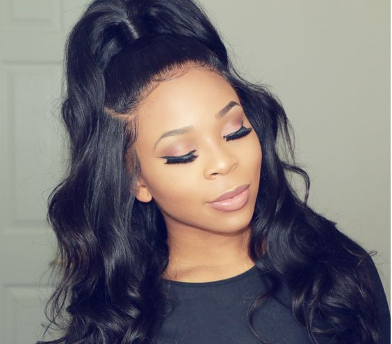 half wig top knot