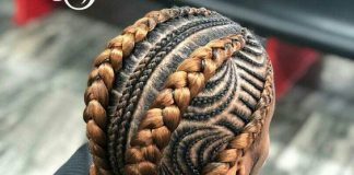 Two Toned Fishbone Braids