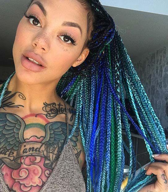 pastel ombre box braids