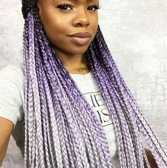 purple ombre box braids
