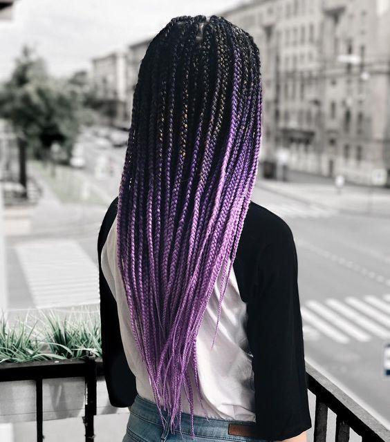 Ombre Lavender Box Braids