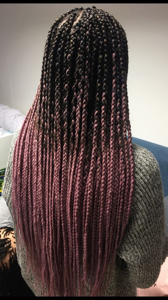 38 Ombre Pink Box Braids