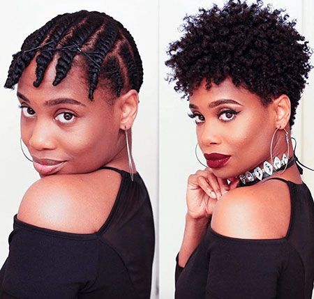 Braid-Out on Tapered Natural Hair